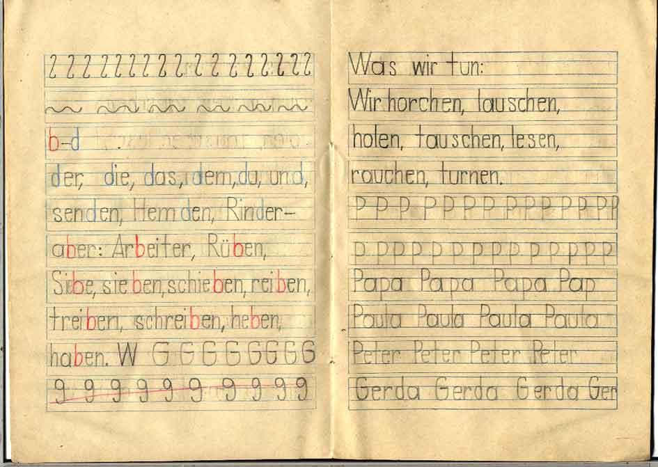 Das legendäre 1. Schreibhaft von Evelin Lehmann